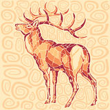 Deer. Stylized image of the deer Royalty Free Stock Images