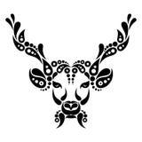 Deer tattoo, symbol decoration illustration Stock Photos
