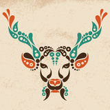 Deer tattoo, symbol decoration illustration Royalty Free Stock Images