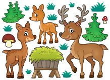 Deer theme collection 1 Royalty Free Stock Photos