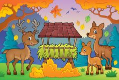 Deer theme image 3 Royalty Free Stock Image