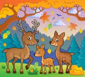 Deer theme image 2 Royalty Free Stock Photography