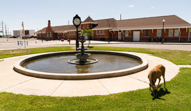 Deer Town Square Fountain Railroad Depot Cheyenne Wyoming Stock Image