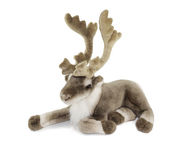 Deer toy. Deer fluffy toy selected on white background Royalty Free Stock Photos