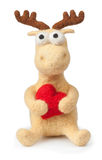Deer toy  on white Stock Images