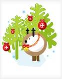 Deer tree Stock Images