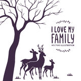 Deer and a tree Royalty Free Stock Photos