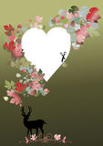 Deer for valentine concept Stock Image
