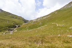 Deer valley. Valea Cerbului, from Bucegi mountain, Romania Stock Photo