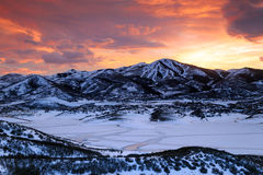 Free Deer Valley Winter Sunset Glow Royalty Free Stock Photo - 87764105