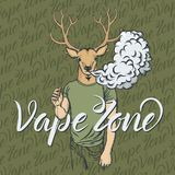 Deer Vaping An Electronic Cigarette Stock Photography