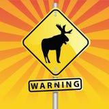 Deer Warning Royalty Free Stock Images