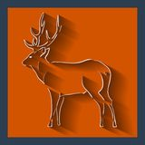 Deer web and mobile icon. Vector. Royalty Free Stock Images