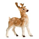 Deer on White. Cute Christmas toy deer on white background Stock Images
