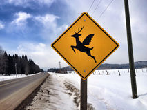 Deer with wings Stock Photos