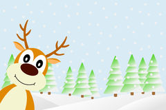 Deer in the winter forest. Stock Images