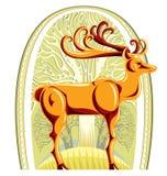 Deer With Beautiful Big Horns. Stock Photos