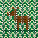 A deer in woven pattern Stock Photo