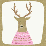 Deer xmas Stock Image