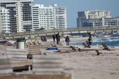 Deerfield海滩 免版税库存图片