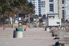 Deerfield海滩 免版税库存照片