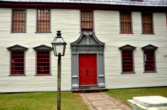 Deerfield,马萨诸塞:1730代特议院 免版税库存图片