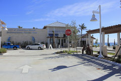 Deerfield Beach Cafe And Pier Stock Photo