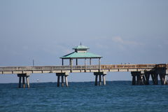 Deerfield beach. Deerfiled beach Florida palm beach water Stock Image