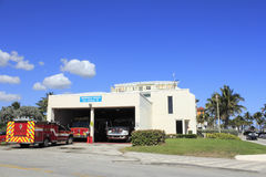 Deerfield Beach Fire Station 75 Royalty Free Stock Images