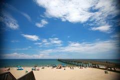 Deerfield Beach Pier Royalty Free Stock Images