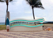 Deerfield Beach Sign Royalty Free Stock Photography