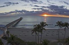 Deerfield Beach Sunrise Stock Image