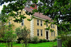 Deerfield, Massachusetts: The Parsonage. Deerfield, Massachusetts:  The Parsonage built in 1775 for John Hoff orignally situated at Cheapside and later moved to Royalty Free Stock Images