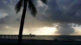 Deerfield plaży molo Floryda Zdjęcia Stock