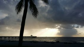 Deerfieldstrand Pier Florida stock foto's