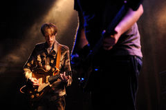 Deerhunter (band from Atlanta), performs at Apolo Royalty Free Stock Photo