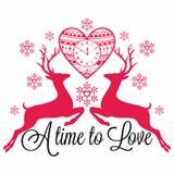 deers Ένας χρόνος να αγαπήσει ελεύθερη απεικόνιση δικαιώματος