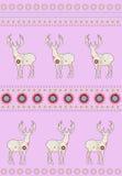 Deers με τα λουλούδια Στοκ εικόνες με δικαίωμα ελεύθερης χρήσης