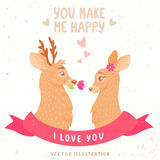 Deers couple Stock Photography