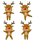 Deers de Noël Image libre de droits