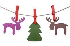 Deers de papier de Noël Photos stock