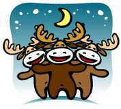 Deers di natale illustrazione di stock