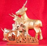 Deers et signe de Noël Images stock