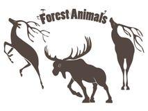 Deers and moose Royalty Free Stock Image