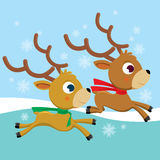 deers śnieg Royalty Ilustracja