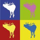 Deers rétro Illustration Libre de Droits