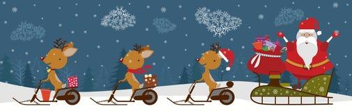 deers santa Стоковая Фотография