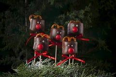 Deers van de chocoladeheemst voor Kerstmis royalty-vrije stock afbeelding