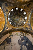 Deesis Mosaic and The Inner Narthex Mosaics Stock Photo