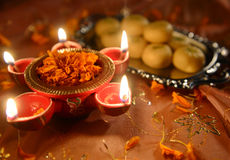 Deewali lamp stock photography